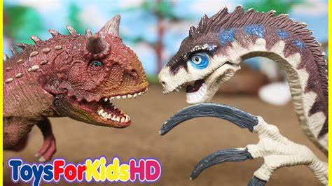 Dinosaurios de Juguete Carnotauro v/s Therizinosaurus ...