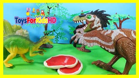 Dinosaurios para niños Coelophysis v/s Velociraptor ...