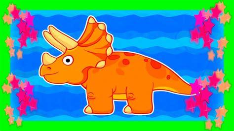 DINOSAURIOS PARA PEQUES  La Isla del Triceratops  Videos ...