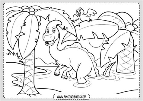 Dinosaurios para Pintar PDF   Rincon Dibujos