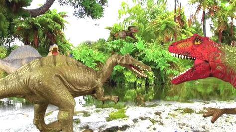 Dinosaurios peleando|dinosaurios para niños on Youtube ...