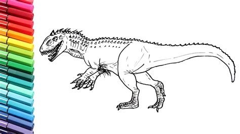 Dinosaurs Color Pages Indominus Rex and T  rex from ...