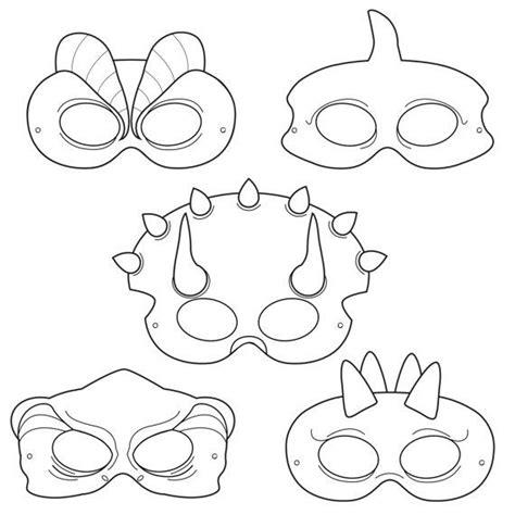 Dinosaurs Printable Coloring Masks, dinosaur masks ...