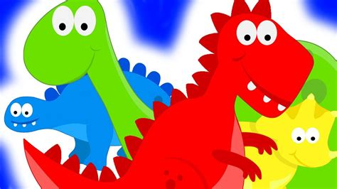 Dinosaurs Teaching Colors   Learning Colours Video for ...