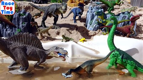 Dinosaurs Toys Park Fun Video for Kids   Learn Dino Names ...