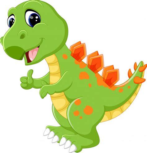 Dinossauro bonito dos desenhos animados   Vetor Premium
