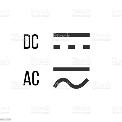 Direct And Alternating Current Dc And Ac Symbol Sign ...