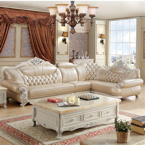Direct Selling Living Room Furniture, Leather L Shape Sofa ...