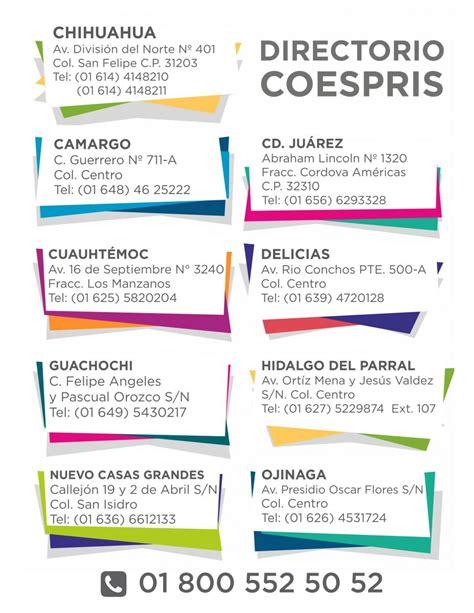 Directorio COESPRIS | Chihuahua.gob.mx