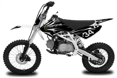 Dirt pit bike 125cc Monster Energy Tornado Racing BIG ...