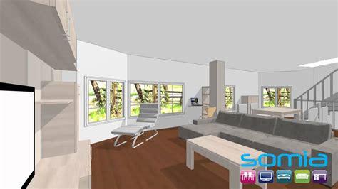 Diseño 3d Somia, Tienda Muebles Salon moderno Valencia ...