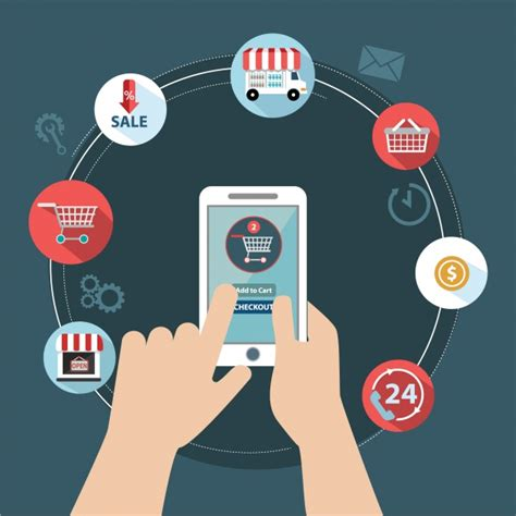 Diseño de compra online | Vector Gratis
