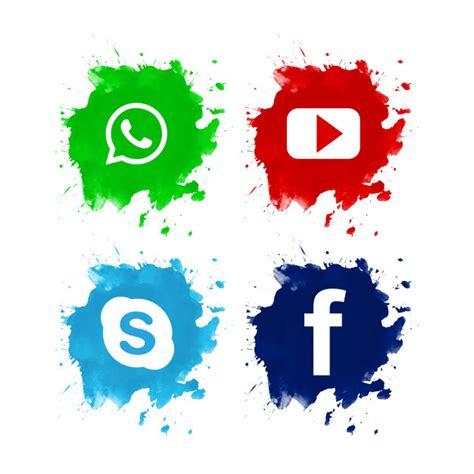 Diseño de conjunto hermoso icono de redes sociales ...