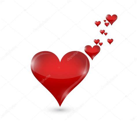 Diseño de corazones amor concepto ilustración — Foto de ...