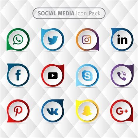 Diseño de iconos de redes sociales Vector Gratis   Iconos ...