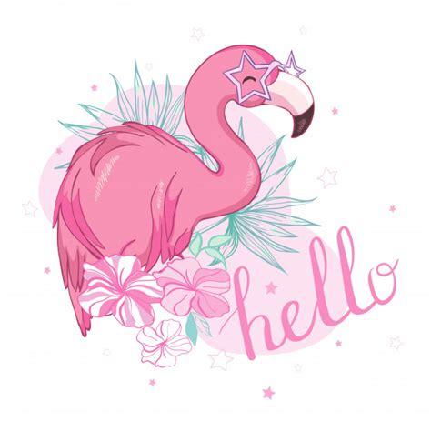 Diseño de ilustración de pájaro flamenco | Vector Premium