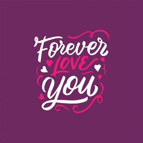 Diseño de letras / tipografía con la frase de amor ...