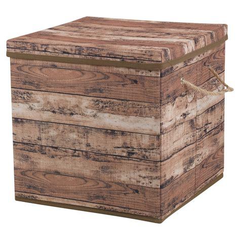 Diseño de madera Caja de almacenamiento Asas de cuerda con ...