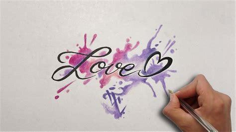 Diseño letras LOVE / Lettering Design LOVE   Nosfe Ink ...