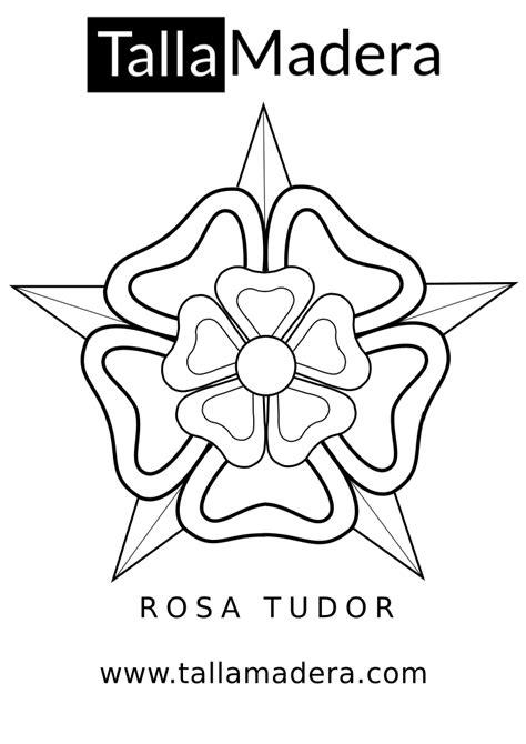Diseño PDF nº2 para talla   La Rosa Tudor   Madera dibujo ...