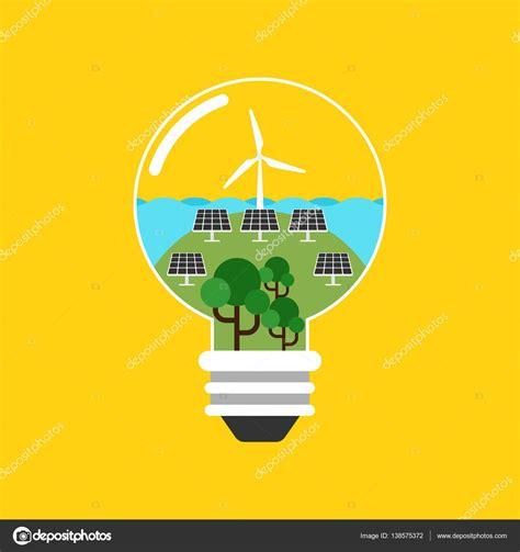 Diseño plano del concepto de energía renovable — Vector de ...
