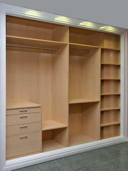 Diseños de armarios empotrados | Interiores de armarios ...