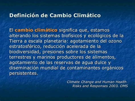 Disertación sobre Salud Ambiental