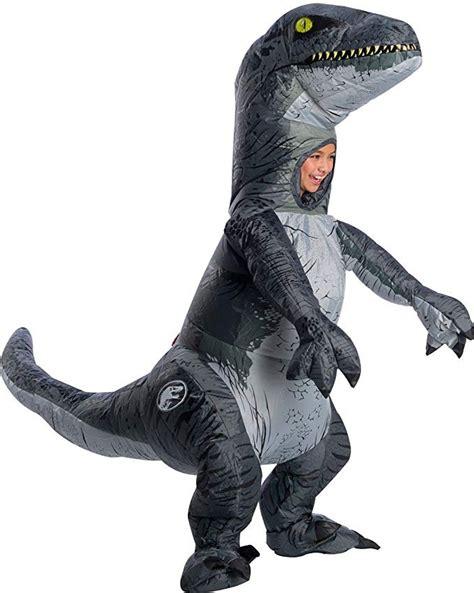 Disfraz Inflable Niño Dinosaurio Velociraptor Con Sonido ...