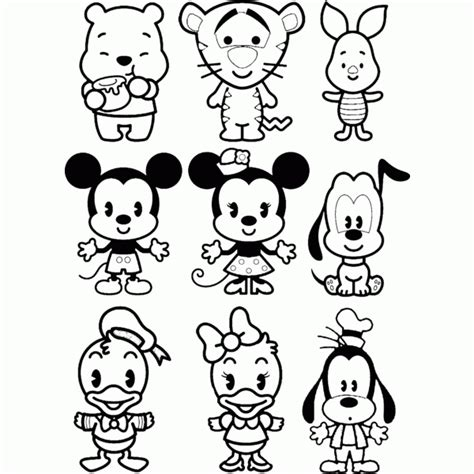 Disney Cuties Coloring Pages   Coloring Home