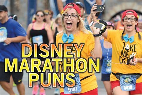Disney Puns During the Disneyland Half Marathon 2016   YouTube