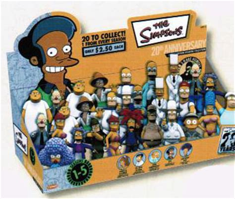 DISPLAY FIGURAS 20TH ANNIVERSARY SIMPSONS  24 unid ...