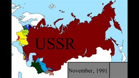 Dissolution of the USSR: Every Month   YouTube