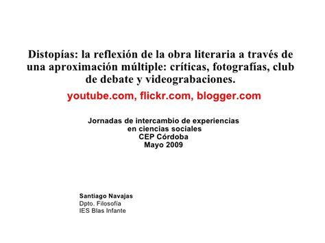 Distopias La Reflexion De La Obra Literaria A