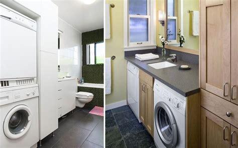 Distribución de lavadora y secadora en el baño para casas ...