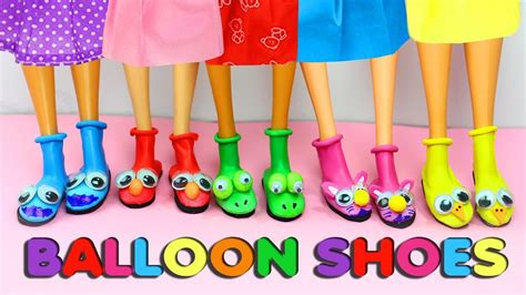 DIY Barbie Balloon Shoes   Very Easy Doll Craft ...