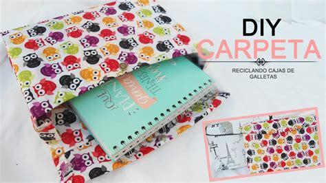 DIY| Carpeta/ Archivador Reciclando una Caja de Galletas # ...