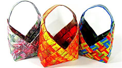 #DIY: Cestas de papel periódico. How to make paper baskets ...