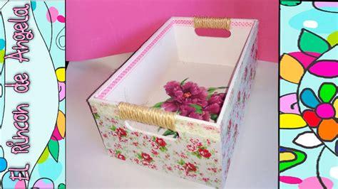 DIY Como decorar una caja de madera con papel mache, y ...