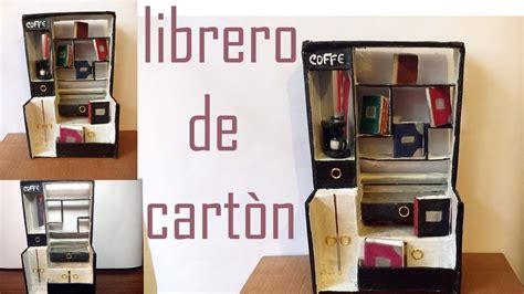 DIY/ COMO HACER UN LIBRERO HECHO DE CARTÓN   YouTube