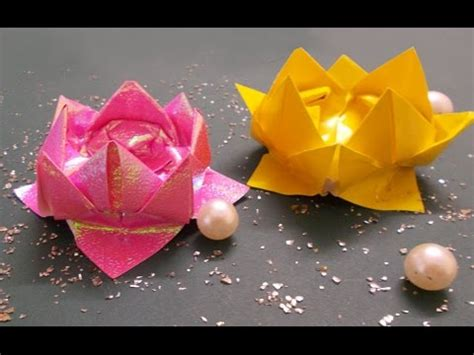 DIY Crafts : Origami Lotus Tutorial | Origami Flowers ...
