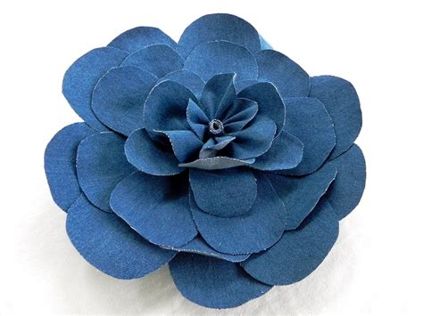 DIY Denim Fabric Flowers – Large, rounded petal style ...