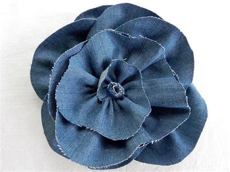 DIY Denim Fabric Flowers – Rose inspired style – MISS ...