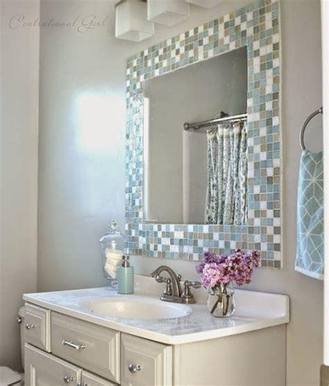 DIY Espejo de mosaico para el cuarto de baño | Decorar tu ...