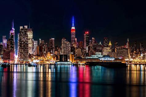 DIY frame New York city View Night Light Landscape Home ...