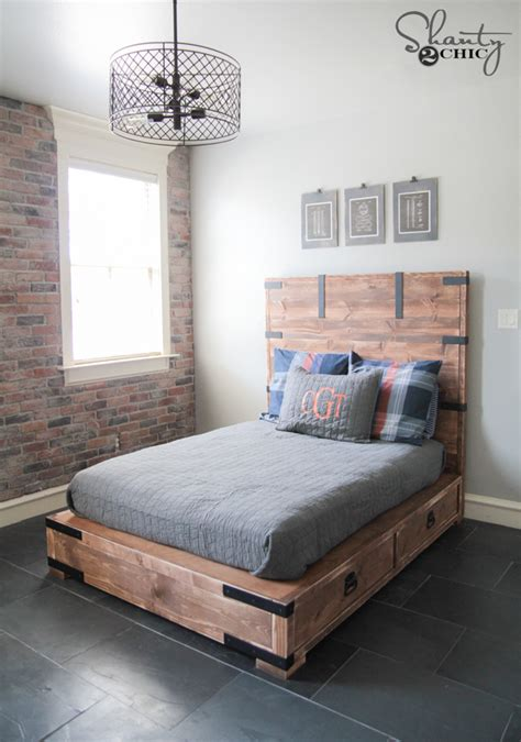 DIY Full or Queen Size Storage Bed   Shanty 2 Chic