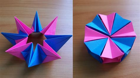 DIY How To Fold an Easy Origami Magic Circle Fireworks ...