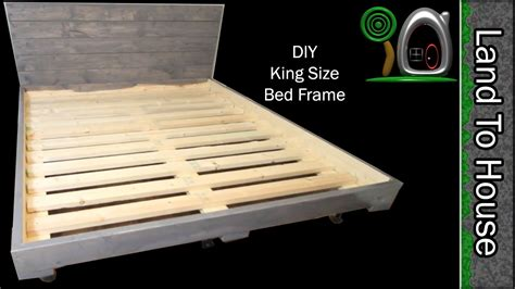 DIY King Size Bed Frame   YouTube