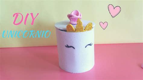 DIY | Mini organizador de unicornio| con rollos de Papel ...