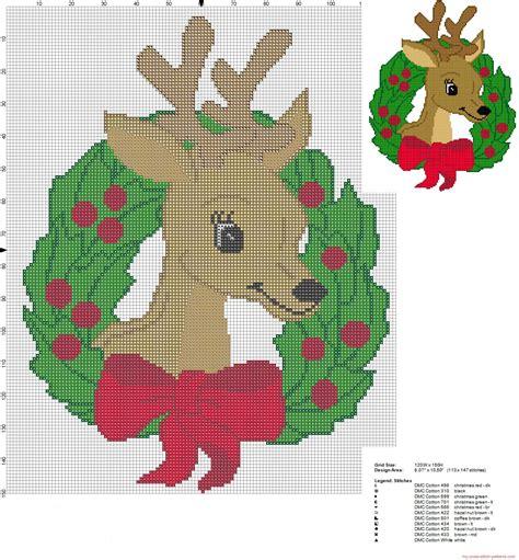 DIY navideño: plantillas en punto de cruz para Navidad