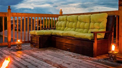 DIY Outdoor Wood sectional sofa/bench with storage ...